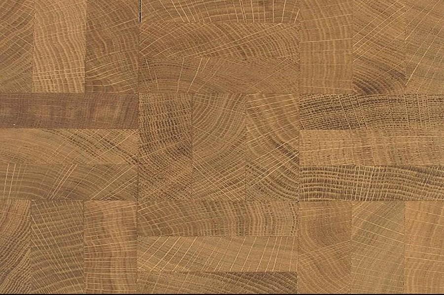 end grain oak strips